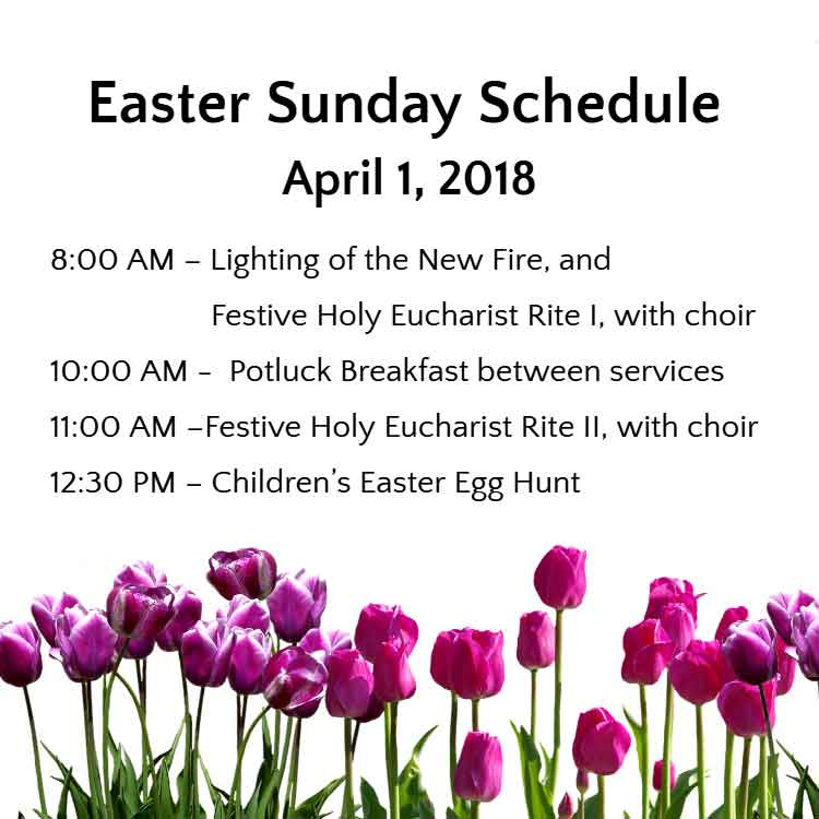 St. Raphael Episcopal Church Easter Sunday Schedule